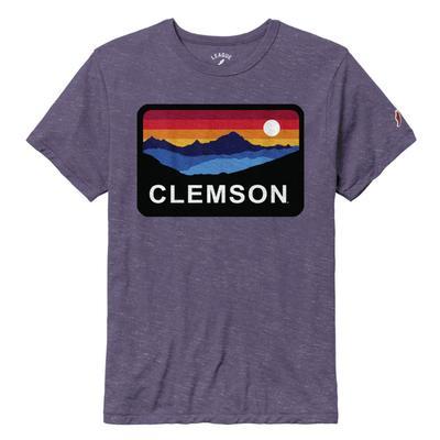 Clemson League Horizon Short Sleeve Tee HTHR_NEW_PURPLE