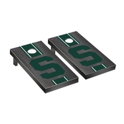 Michigan State Block S Onyx Cornhole Set