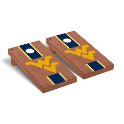 West Virginia Rosewood Stripe Cornhole Set