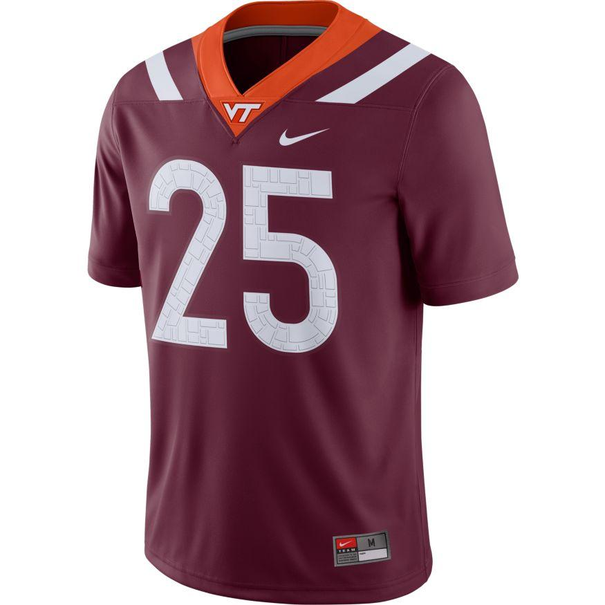 Virginia Tech Nike # 25 Game Jersey