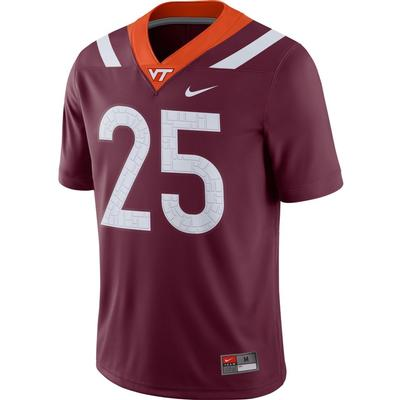Virginia Tech Nike #25 Game Jersey