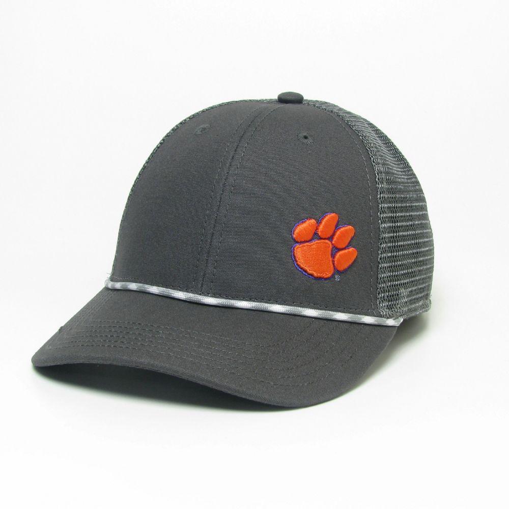 Clemson Legacy Men's Lo- Pro Left Hit Rope Trucker Adjustable Hat