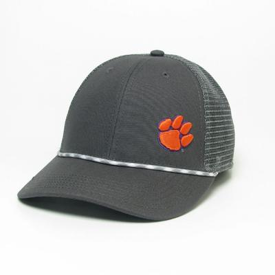 Clemson Men's Lo-Pro Left Hit Rope Trucker Adjustable Hat