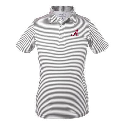 Alabama Youth Carson Stripe Polo CHARCOAL
