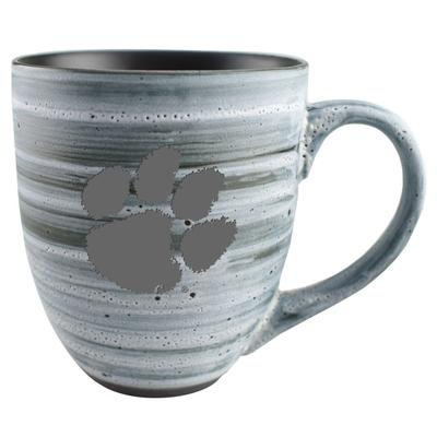 Clemson 15oz Grey Swirl Ceramic Mug