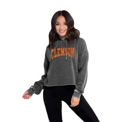 Clemson Chicka-D Women's Campus Cropped Jumbo Squeeze Hoodie