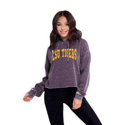 LSU Chicka-D Women's Campus Cropped Jumbo Squeeze Hoodie