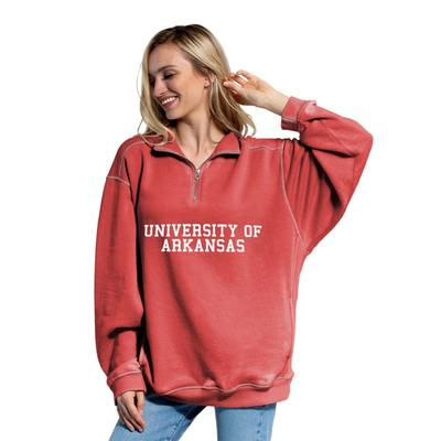 Arkansas Women's Everybody Stacked College 1/4 Zip Pullover