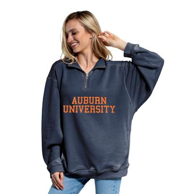 Auburn Chicka-D Women's Everybody Stacked College 1/4 Zip Pullover