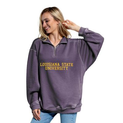 LSU Chicka-D Women's Everybody Stacked College 1/4 Zip Pullover