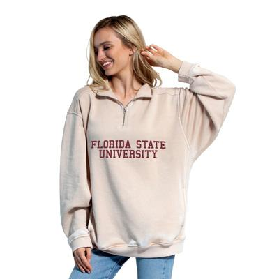 Florida State Chicka-D Women's Everybody Stacked College 1/4 Zip Pullover