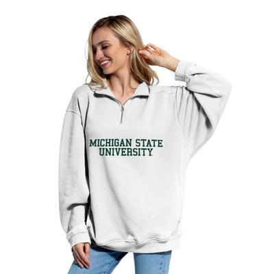 Michigan State Chicka-D Women's Everybody Stacked College 1/4 Zip Pullover
