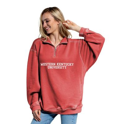 Western Kentucky Chicka-D Women's Everybody Stacked College 1/4 Zip Pullover