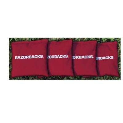 Arkansas Razorbacks Red Cornhole Bag Set