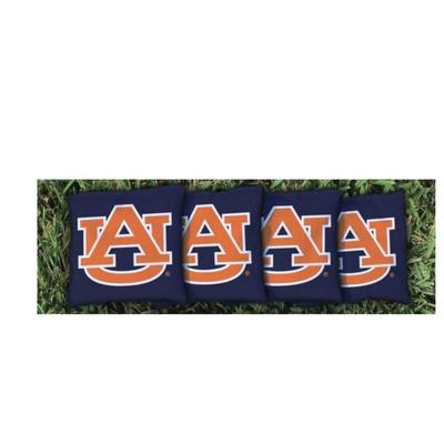 Auburn AU Interlock Navy Cornhole Bag Set