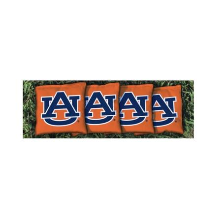 Auburn AU Interlock Orange Cornhole Bag Set
