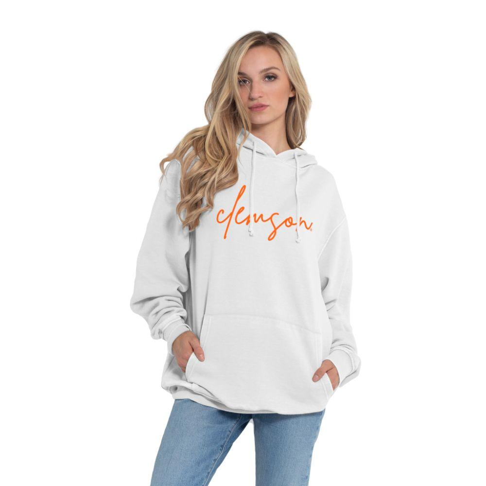 Clemson Chicka- D Women's Everybody Large Script Hoodie