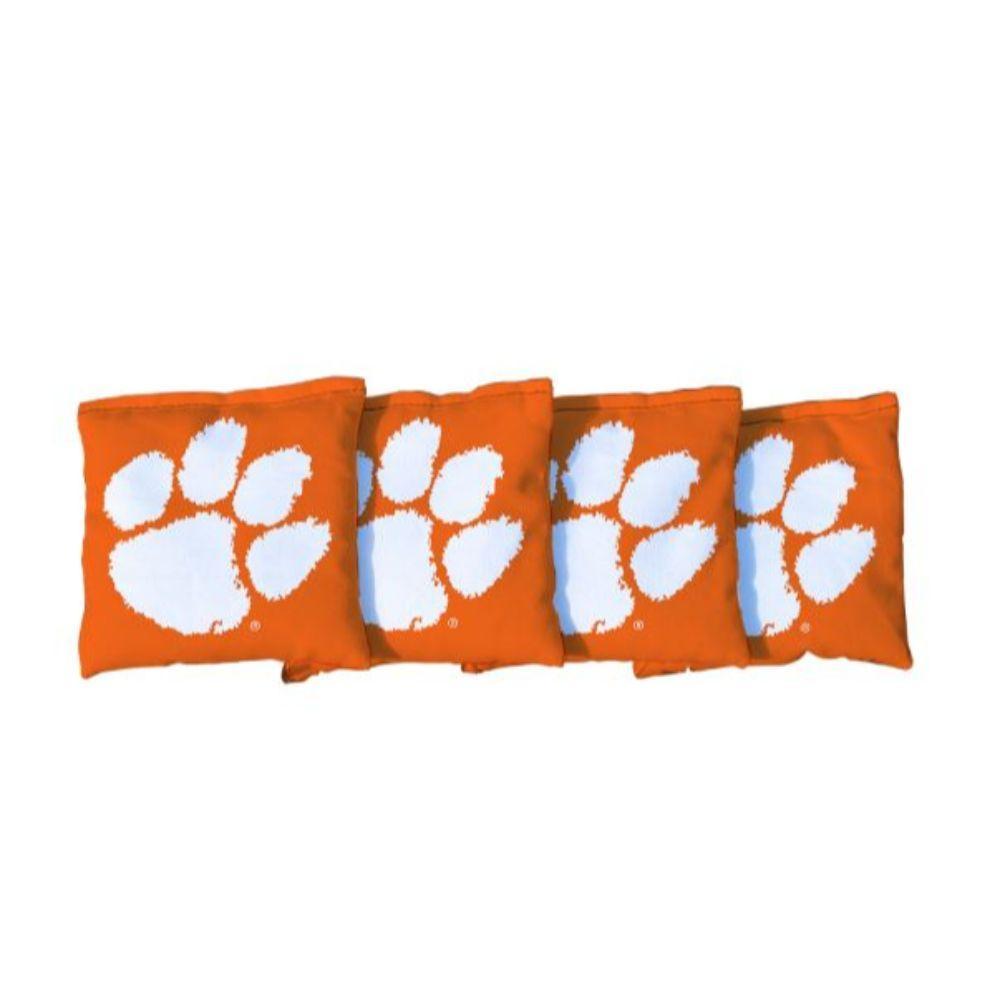 Clemson Paw Orange Cornhole Bag Set