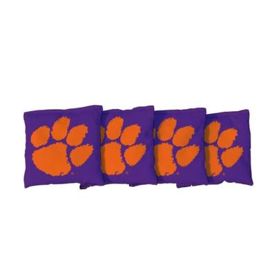 Clemson Paw Purple Cornhole Bag Set