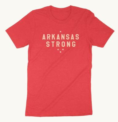 Arkansas Strong Natural Threads Short Sleeve Tee