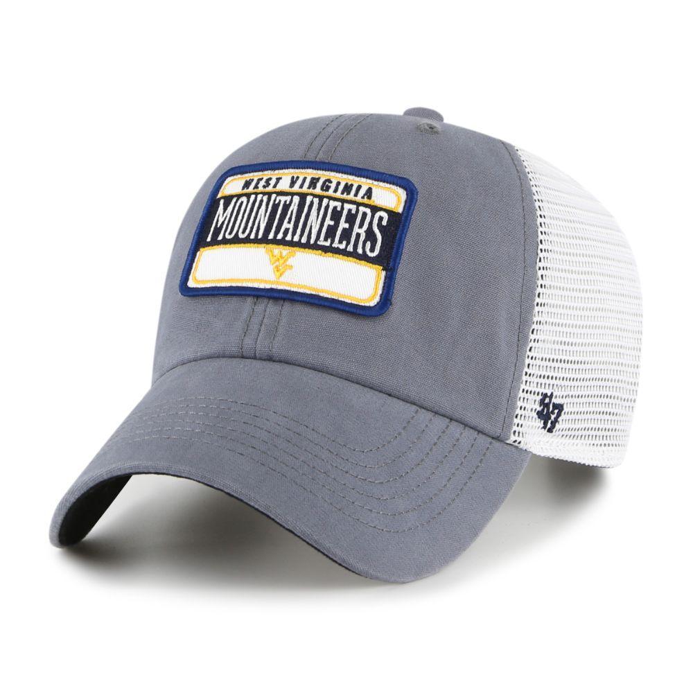 West Virginia 47 ' Brand Fluid Clean Up Mesh Hat