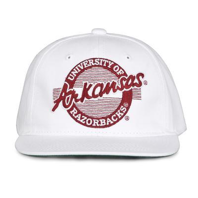 Arkansas Retro Circle Adjustable Flatbill Hat