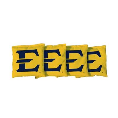 ETSU Block E Yellow Cornhole Bag Set