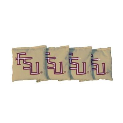 Florida State FSU Gold Cornhole Bag Set