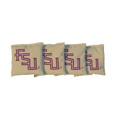 Florida State FSU Gold Cornhole Bag Set