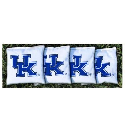 Kentucky UK White Cornhole Bag Set