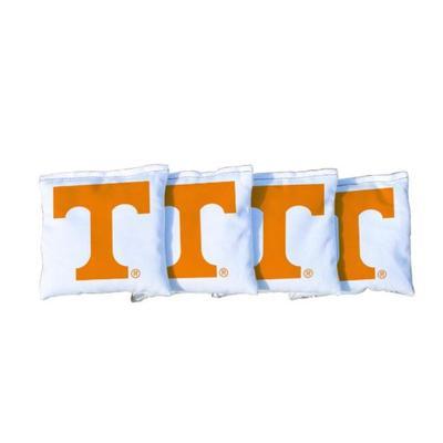 Tennessee Power T White Cornhole Bag Set