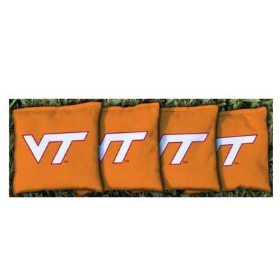 Virginia Tech VT Orange Cornhole Bag Set