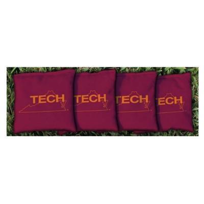 Virginia Tech Vault Maroon Cornhole Bag Set