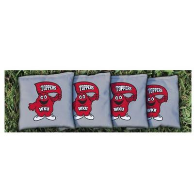 Western Kentucky Big Red Gray Cornhole Bag Set