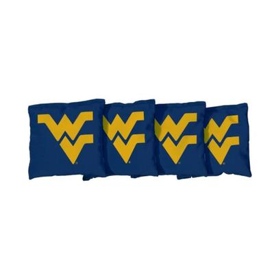 West Virginia Navy Cornhole Bag Set