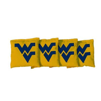 West Virginia Yellow Cornhole Bag Set