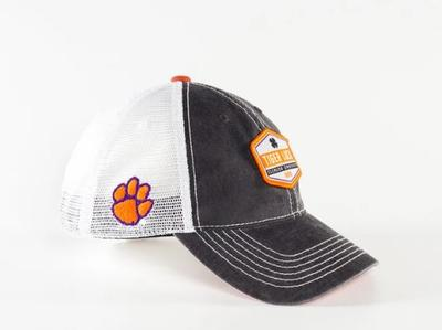 Clemson Black Clover Tiger Luck Mesh Hat