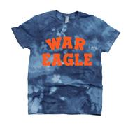 Auburn Kickoff Couture Women's War Eagle Good Vibes Tie Dye Short Sleeve Tee