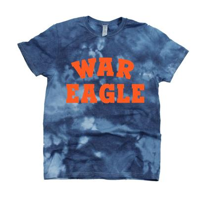 Auburn Kickoff Couture Women's War Eagle Good Vibes Tie Dye Short Sleeve Tee