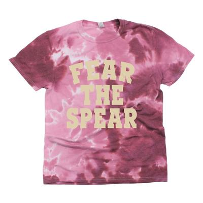 Florida State Kickoff Couture Women's Fear the Spear Good Vibes Tie Dye Short Sleeve Tee