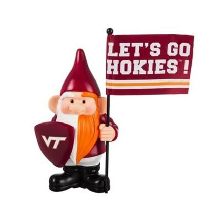 Virginia Tech Garden Gnome with Flag
