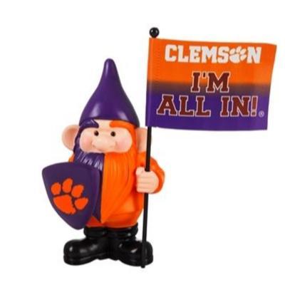 Clemson Garden Gnome with Flag