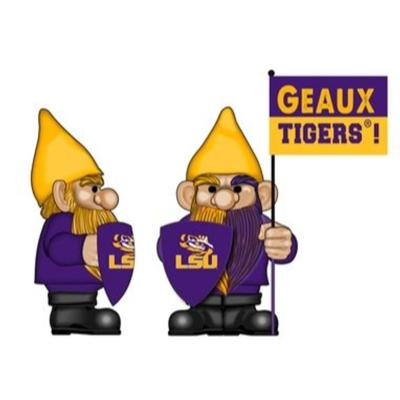 LSU Garden Gnome with Flag