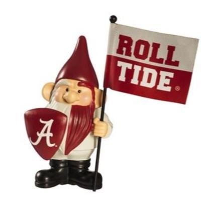 Alabama Garden Gnome with Flag