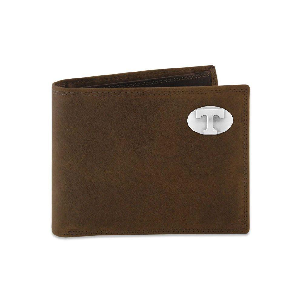 Tennessee Leather Bi- Fold Wallet With Metal Concho