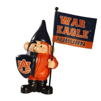 Auburn Garden Gnome with Flag