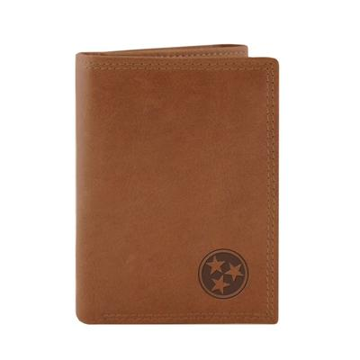 Zeppro Leather Tri-fold Tri-star Wallet