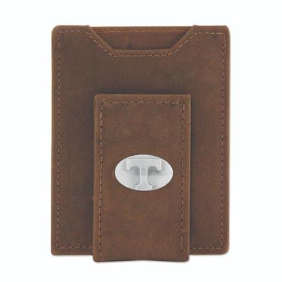 Tennessee Leather Front Pocket Wallet with Metal Concho