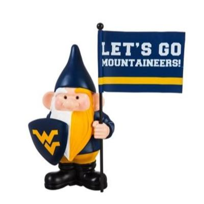 West Virginia Garden Gnome with Flag