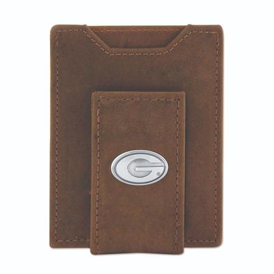 Georgia Leather Front Pocket Wallet with Metal Concho